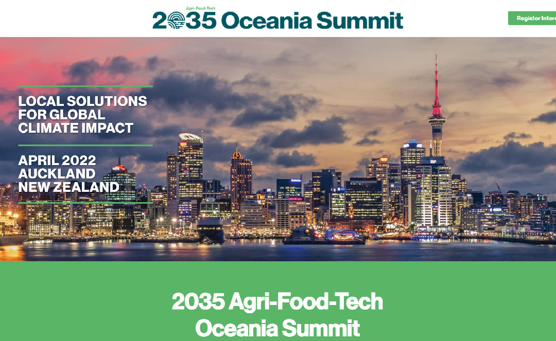 Announcing the 2035 Oceania Agri-Food-Tech Climate Summit